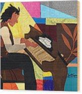 Piano Man Wood Print