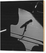 Piano Needs A Microphone Wood Print by Tony Reddington