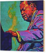 Piano Player Wood Print