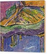Piano Purple Wood Print