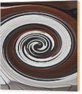 Piano Swirl Wood Print by Garry Gay