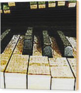 Piano Triptych Wood Print