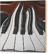 Piano Wave Wood Print