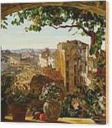 Piazza Barberini In Rome Wood Print