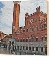 Piazza Del Campo Wood Print