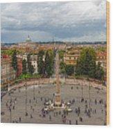 Piazza Del Popolo - Impressions Of Rome Wood Print