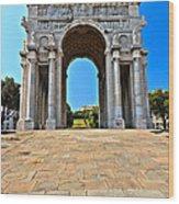 Piazza Della Vittoria - Genova. Italy Wood Print