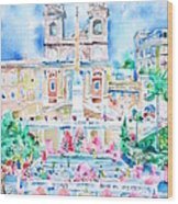 Piazza Di Spagna - Rome Wood Print