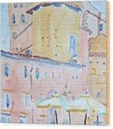 Piazza Galvin Bologna Wood Print