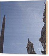 Piazza Navona Wood Print
