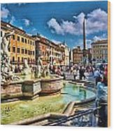 Piazza Navona - Rome Wood Print