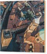 Piazza Ravegnana Wood Print