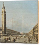 Piazza San Marco Looking South And West Wood Print