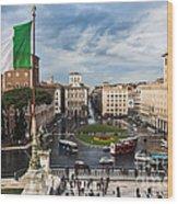 Piazza Venezia Wood Print