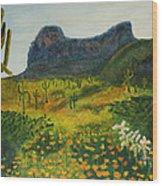 Picacho Poppies Wood Print