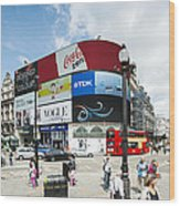 Picadilly Circus London Wood Print