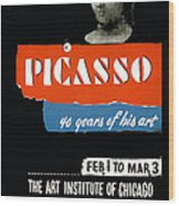 Picasso 40 Years Of His Art  Wood Print