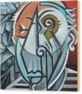 Picasso Bust Wood Print