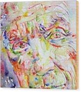 Picasso Pablo Watercolor Portrait.2 Wood Print