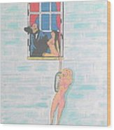Picasso With Two Lesbians Wood Print