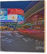 Piccadilly Circus Wood Print