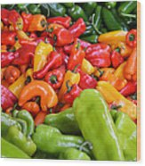 Pick A Peck Of Peppers Wood Print