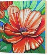 Pick Me Poppy Wood Print