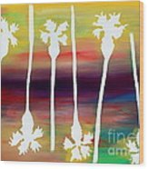 Pick Up Stix Wood Print