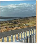 Picket Fence - Chambers Bay Golf Course Wood Print
