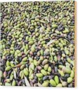 Picking Olives Wood Print