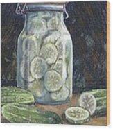 Pickled Cucumbers Wood Print