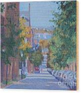 Pickney Street Fall Wood Print