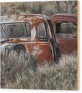 Pickup Cabs 1 Wood Print