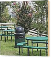 Picnic Area Wood Print
