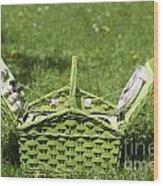 Picnic Basket Wood Print
