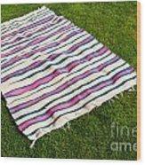 Picnic Blanket Wood Print