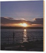 Picnic Sunset Vancouver Island Wood Print