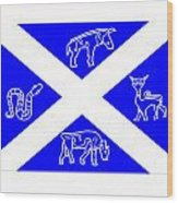 Pictish Scotland Flag 2 Wood Print
