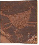 Pictograph 2 Wood Print