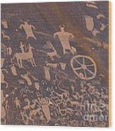 Pictographs 1 Wood Print