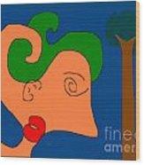 Pictree Wood Print by Meenal C