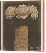 Picture Of Antique Peony Bouquet Wood Print