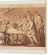 Picture Of Europe For July 1772, Catherine II Wood Print