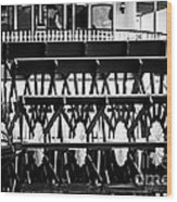 Picture Of Natchez Steamboat Paddle Wheel In New Orleans Wood Print