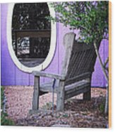 Picture Perfect Garden Bench Wood Print