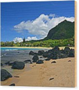 Picture Perfect Haena Beach Wood Print