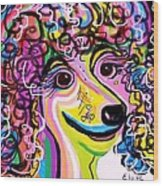 Picture Perfect Poodle  Wood Print by Eloise Schneider