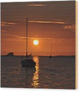 Picture Perfect Sunset Wood Print