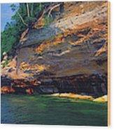 Pictured Rocks National Lakeshore, Lake Wood Print