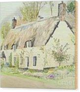 Picturesque Dunster Cottage Wood Print